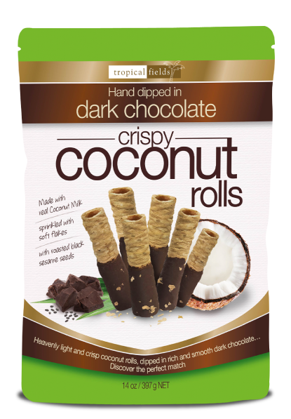 Choc Dipped Coconut Rolls